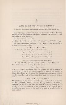 Note on Sir John Wilson's theorem