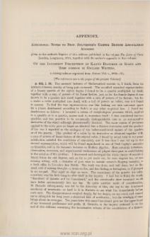 Appendix. Additional Notes to Professor Sylvester's Exeter British Association Address