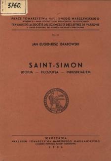 Saint-Simon : Utopja-filozofja-industrjalizm