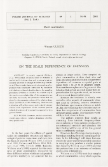On the scale dependence of evenness