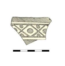naczynie ceramiczne, fragment