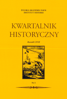 Kwartalnik Historyczny R. 117 nr 3 (2010), Title pages, Contents