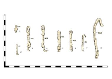 chain, iron, fragments (1-7)