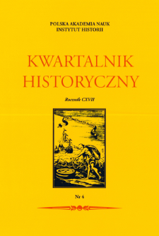 Kwartalnik Historyczny R. 117 nr 4 (2010), Title pages, Contents