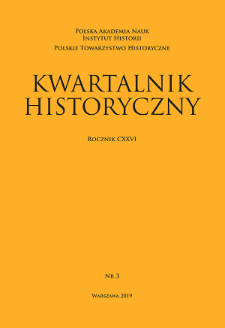 Kwartalnik Historyczny R. 126 nr 3 (2019), Title pages, Contents, List of Abbreviations