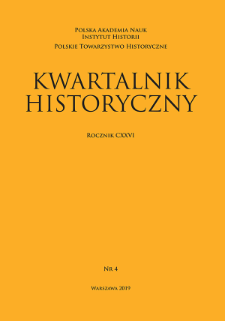 Kwartalnik Historyczny R. 126 nr 4 (2019), Title pages, Contents, List of Abbreviations, Contents of vol. CXXVI