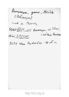 Barcząca. Kartoteka powiatu czerskiego w średniowieczu. Kartoteka Słownika historyczno-geograficznego Mazowsza w średniowieczu