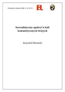 Socrealistyczny apokryf a kult komunistycznych świętych
