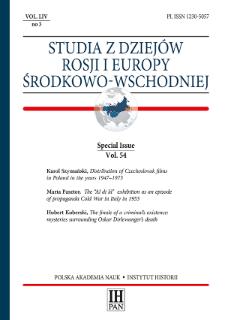 Studia z Dziejów Rosji i Europy Środkowo-Wschodniej Vol 54, No 3 (2019), Special Issue, Title pages, Contents