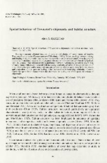 Spatial behaviour Townsend's chipmunks and habitat structure