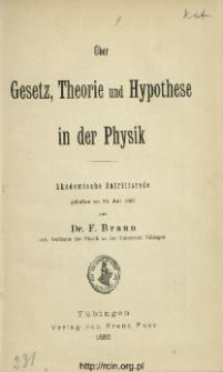 Über Gesetz, Theorie und Hypothese in der Physik