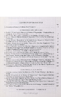 Pamiętnik Literacki, Z. 2 (2005), Contents of the fascicle