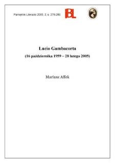 Lucio Gambacorta (16 października 1959 - 28 lutego 2005)