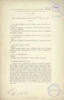 Arachnides recueillis au cours de la mission de MM. J. Bonnier et Ch. Perez au Golfe Persique (mars-avril 1901)