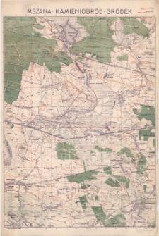 Mszana - Kamieniobród - Gródek : [mapa topograficzna]