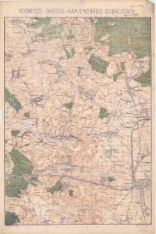 Rodatycze - Gródek - Kamieniobród - Dobrostany : [mapa topograficzna]