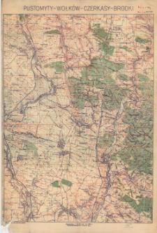 Pustomyty - Wołków - Czerkasy - Brodki : podziałka: 1:25.000 czyli 1 cm. = 250 m.