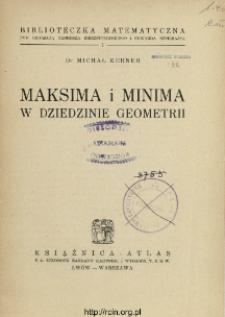 Maksima i minima w dziedzinie geometrii