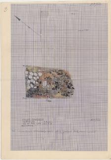KZG, VI 502 B, plan archeologiczny wykopu, konstrukcje wału