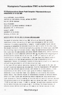 Udział pracowników ITME w konferencjach 1992 nr 1(77)