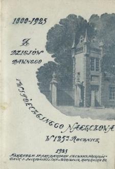 Z dziejów dawnego i współczesnego Nałęczowa : w 125-ą rocznicę powstania zakładu leczniczego i oddania źródeł mineralnych do użytku publiczności