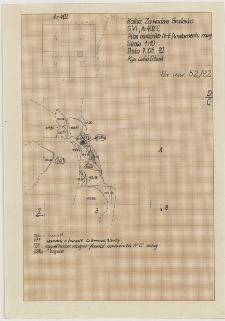 KZG, VI 402 C, plan archeologiczny wykopu