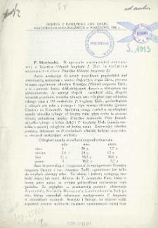 W sprawie zmienności sezonowej u Triarthra (Filinia) longiseta E. = Sur la variation saisonnière chez Triarthra (Filinia) longiseta E.