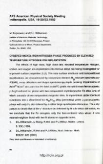 Udział pracowników ITME w konferencjach 1992 T.20 nr 4