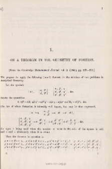 On a Theorem in the Geometry of Position
