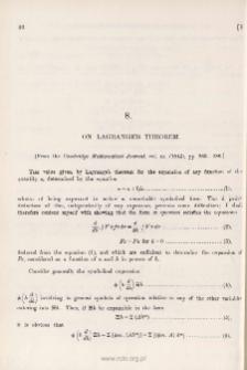 On Lagrange's Theorem