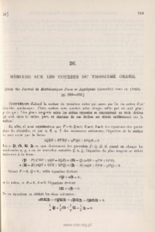 Mémoire sur les Courbes du Troisième Ordre