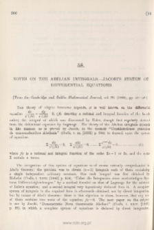 Notes on the Abelian Integrals-Jacobi's System of Differential Equations