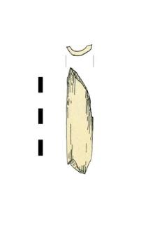 kość ze śladami obróbki, fragment
