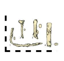 dwa gwoździe, żelazne (1-2)