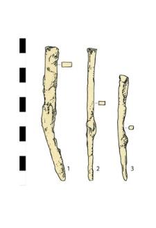 three nails, iron