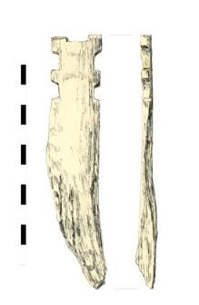 knife's facing, bone