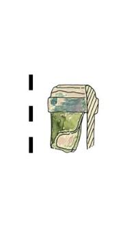 naczynie szklane, fragment