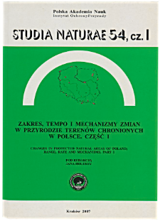 Changes in lichen biota in the area of the Bieszczady National Park in the last 50 years