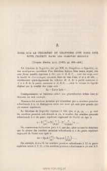 Note sur le théorème de Legendre cité dans une note insérée dans les Comptes Rendus