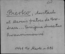 Kartoteka Słownika staropolskich nazw osobowych; Bier - Bl
