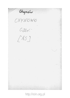 Chynów. Files of Czersk district in the Middle Ages. Files of Historico-Geographical Dictionary of Masovia in the Middle Ages