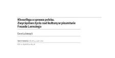 Khouribga a sprawa polska. Zwycięstwo życia nad kulturą w pisarstwie Fouada Larouiego