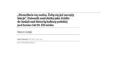 """""""Straszliwie się nudzę. Żeby się już zaczęły lekcje"""". Dziennik nastolatka jako źródło do badań nad historią kultury polskiej pod koniec lat 50. XX wieku"""