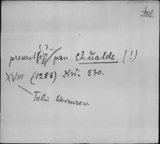 Kartoteka Słownika staropolskich nazw osobowych; Chu - Chy