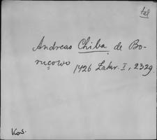 Kartoteka Słownika staropolskich nazw osobowych; Chy - Cia