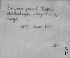 Kartoteka Słownika staropolskich nazw osobowych; Cio - Cl