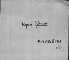 Kartoteka Słownika staropolskich nazw osobowych; Cy - Cza