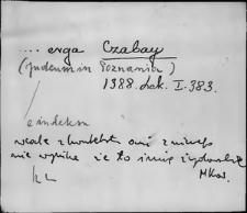 Kartoteka Słownika staropolskich nazw osobowych; Cza - Czar