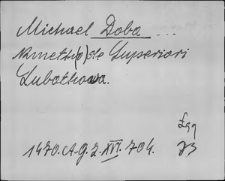 Kartoteka Słownika staropolskich nazw osobowych; Dob-