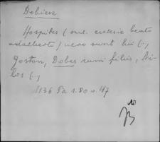 Kartoteka Słownika staropolskich nazw osobowych; Dob - Doch-